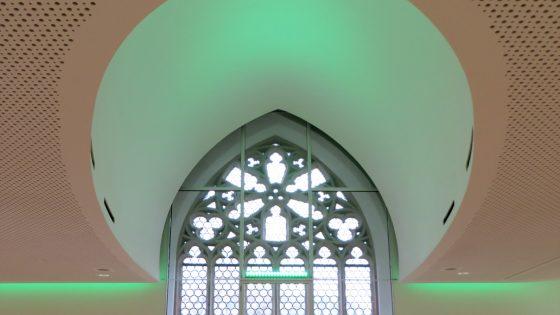 Grüne LED-Deckenleuchten und LED-Band für eine stimmungsvolle Atmosphäre