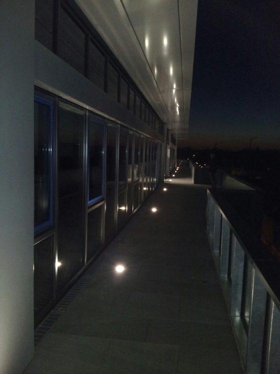 Wegbeleuchtung auf Terrasse